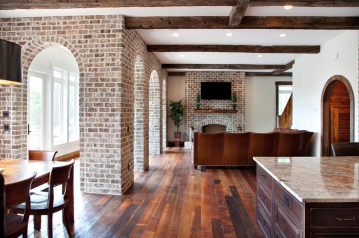 Captivating Interior Columns Of Savannah Grey Handmade Brick