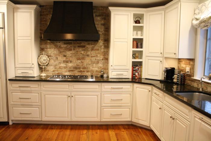 Savannah Grey Handmade Thin Brick In NYC Kitchen
