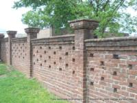 Tryon Handmade Brick privacy wall in Anniston, AL