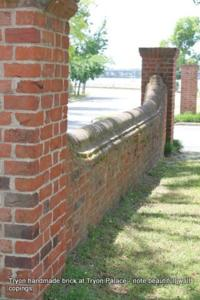 Tryon handmade brick wall
