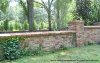 Special blend of handmade brick on garden wall in Memphis