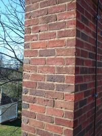 Old Carolina Handmade Brick on Montpelier Chimney Restoration