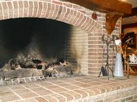 Handmade Brick Fireplace with Special Shapes