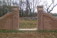 Handmade Brick Wall- Hewick Cemetery on Hewick Plantation in Middlesex County, Virginia.