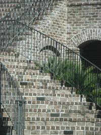 Savannah Grey Handmade Brick Staircase at Colleton River Plantation