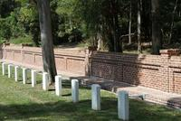 Old Carolina® Handmade brick on Natchez National Cemetery Wall Restoration
