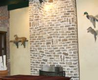 Handmade Clinker Brick Fireplace in Little Rock, AR