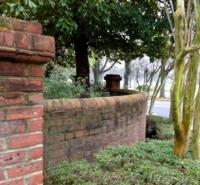 Curved Garden Wall in Memphis, TN
