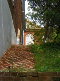Old Salem, NC walkway with Old Carolina® handmade brick pavers