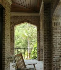 Savannah Grey Handmade Brick Porch with Arches