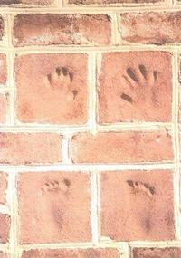 Hand and Footprints on Old Carolina® Handmade Brick