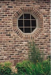 Octagon Window with Handmade Brick Shapes